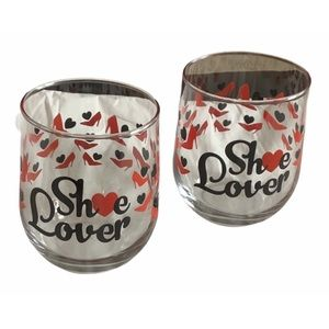 SHOE LOVERS! Two Glasses Just for You!